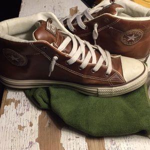 Converse hi tops leather 11